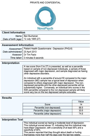 patient health questionnaire depression phq 9 novopsych