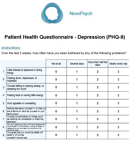 patient questionnaire template